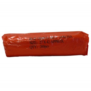 Red Disposable Polythene Aprons on a Roll - 200 per roll