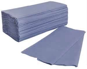 Blue 1ply Interfold Paper Hand Towels - 3600 per Case