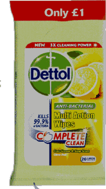Dettol Multi Action Wipes 20s – Citrus