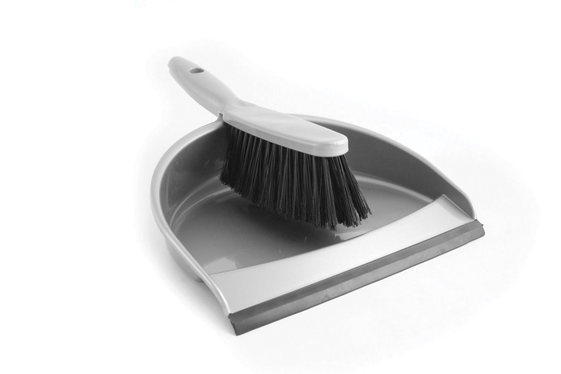 Grey Plastic Dustpan And Brush Set G And J Tissues