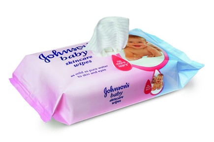 Johnsons Baby Wipes 56s - 12 per Case