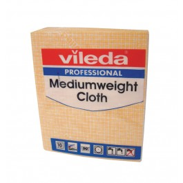 Vileda Professional Medium Weight Cloths - Yellow