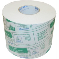 Bay West Ecosoft Toilet Roll - 1ply White 142.5m 1250 sheets per