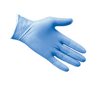 Powdered Blue Latex Disposable Gloves - Box of 100