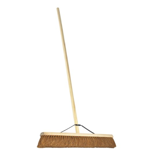 "24"" (60cm) Soft Coco Warehouse Platform Broom, Large Soft Brush"