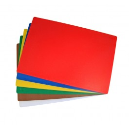 "450x600mm (18x24"") Plastic Chopping Board - Colour Coded"