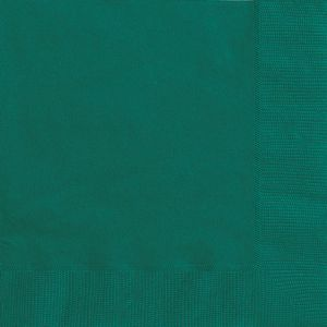 Poppies 33cm x 33cm 2ply Forset Green Napkins - 2000 per case