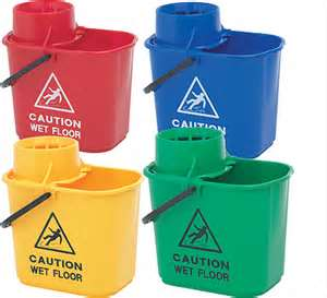 Plastic Wringer Bucket 15litre – Colour Coded