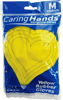 Standard Rubber Gloves - 12 pairs